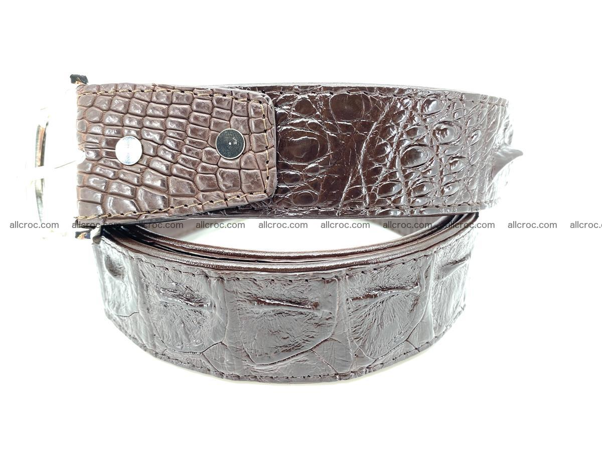 Handcrafted Crocodile leather hornback belt 747 Foto 1