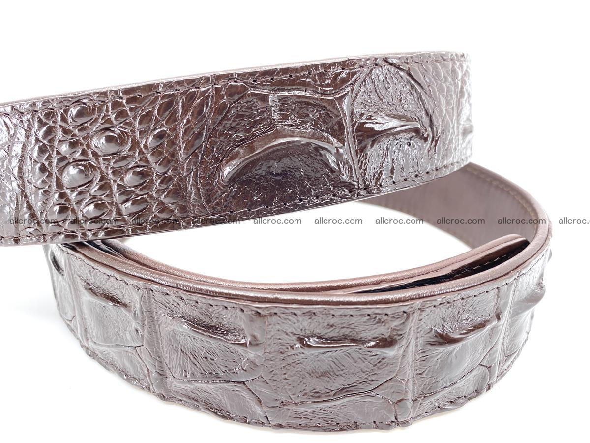 Handcrafted Crocodile leather hornback belt 747 Foto 2