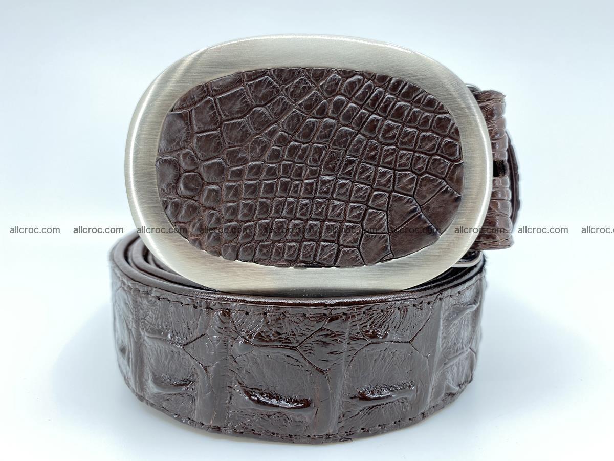 Handcrafted Crocodile leather hornback belt 790 Foto 0