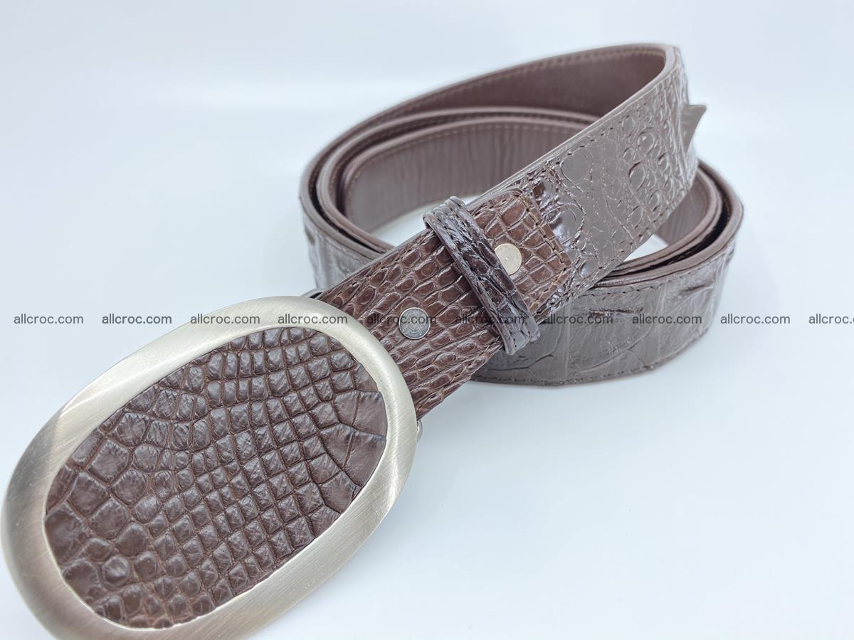 Handcrafted Crocodile leather hornback belt 790 Foto 1