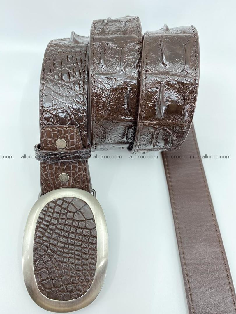 Handcrafted Crocodile leather hornback belt 790 Foto 2