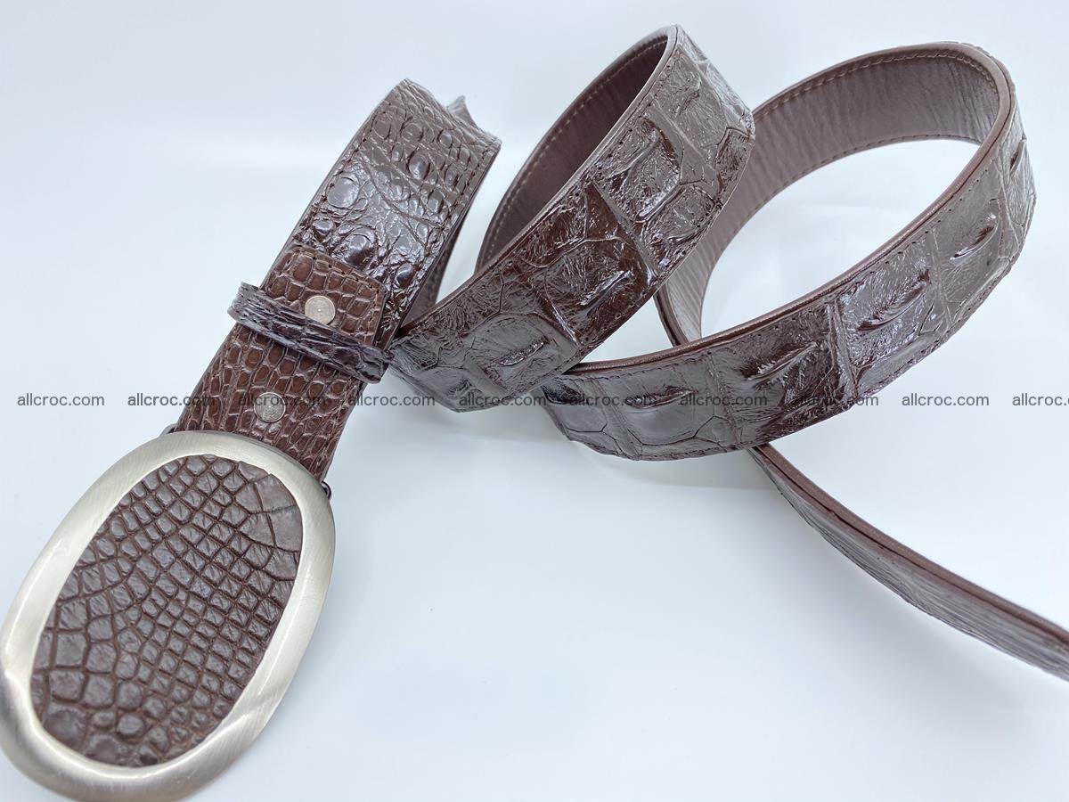 Handcrafted Crocodile leather hornback belt 790 Foto 3
