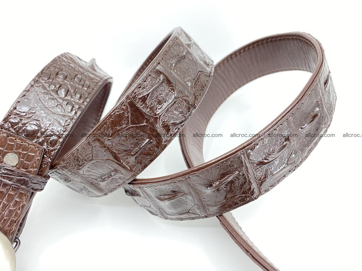 Handcrafted Crocodile leather hornback belt 790 Foto 4