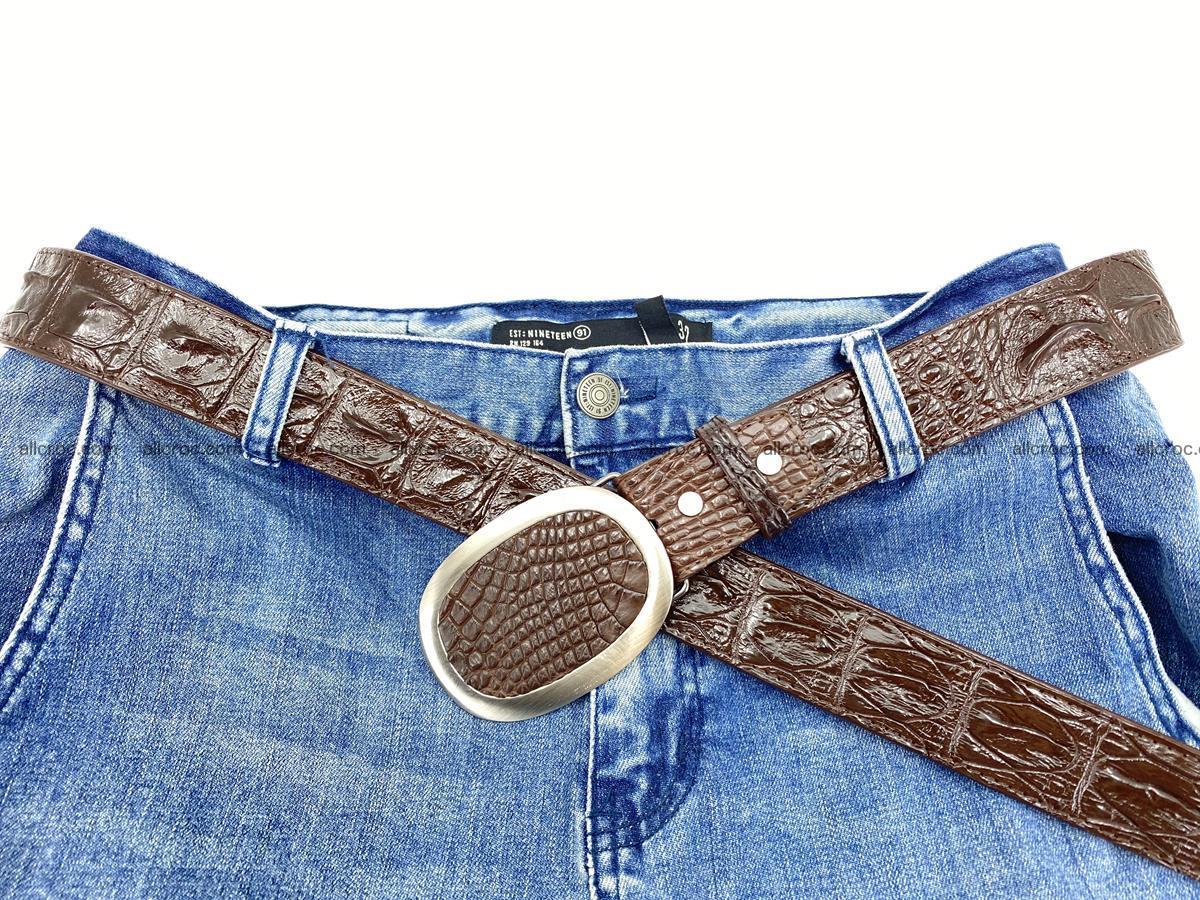 Handcrafted Crocodile leather hornback belt 790 Foto 5