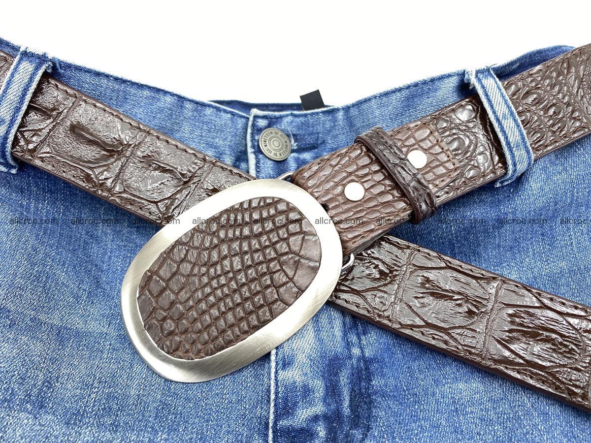 Handcrafted Crocodile leather hornback belt 790 Foto 6