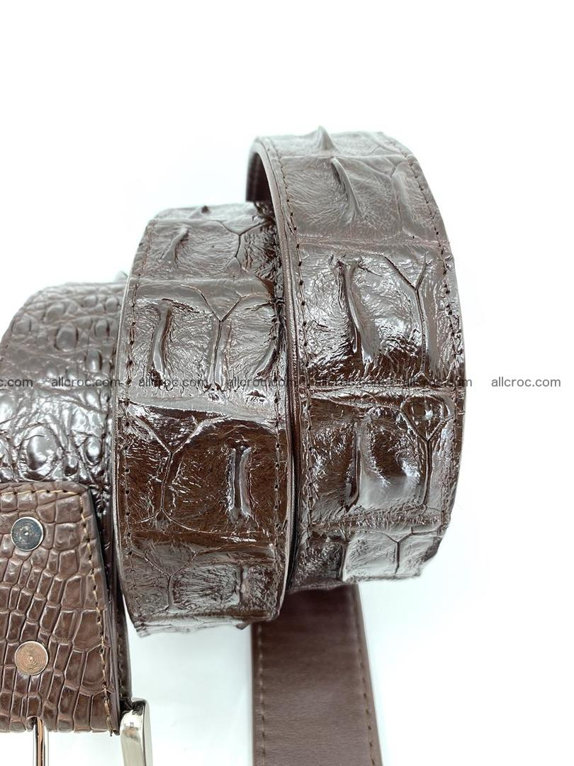 Handcrafted Crocodile leather hornback belt 747 Foto 3