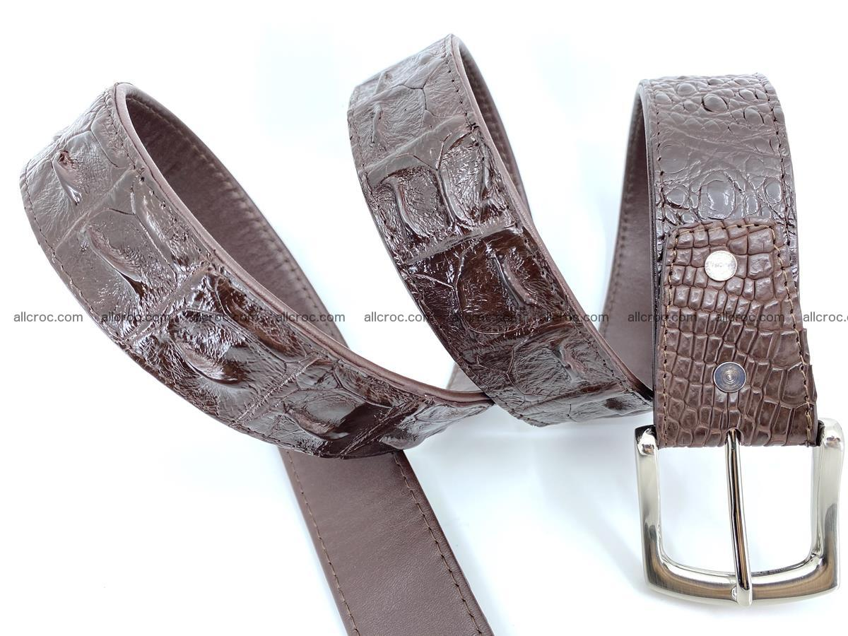Handcrafted Crocodile leather hornback belt 747 Foto 5