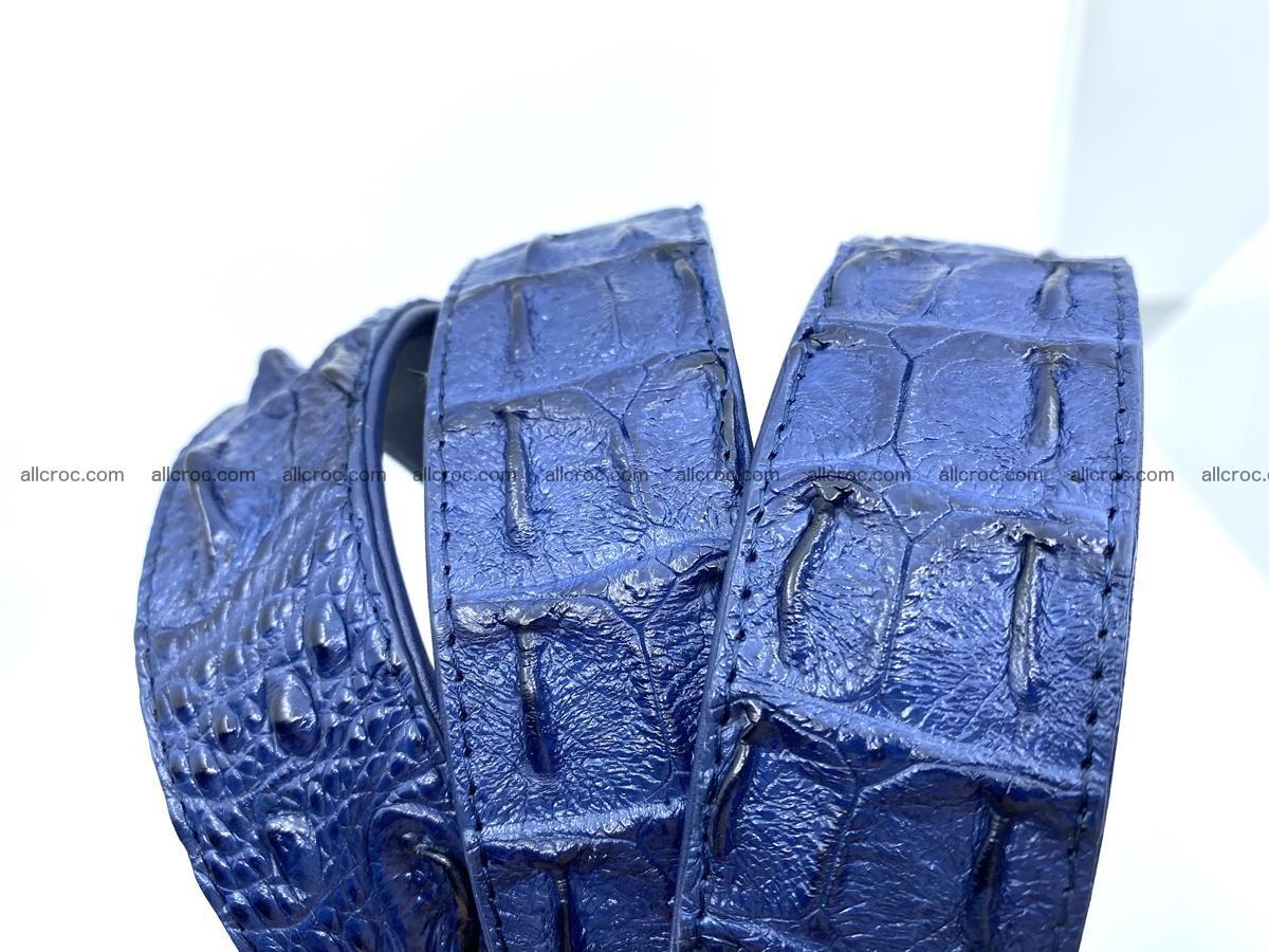 Handcrafted Crocodile leather hornback belt 744 Foto 17
