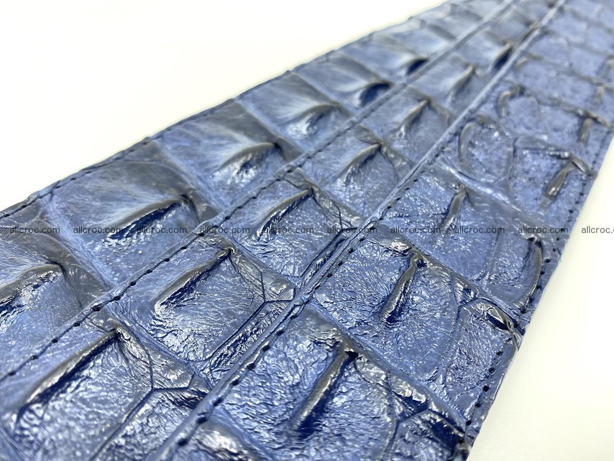 Handcrafted Crocodile leather hornback belt 744 Foto 10