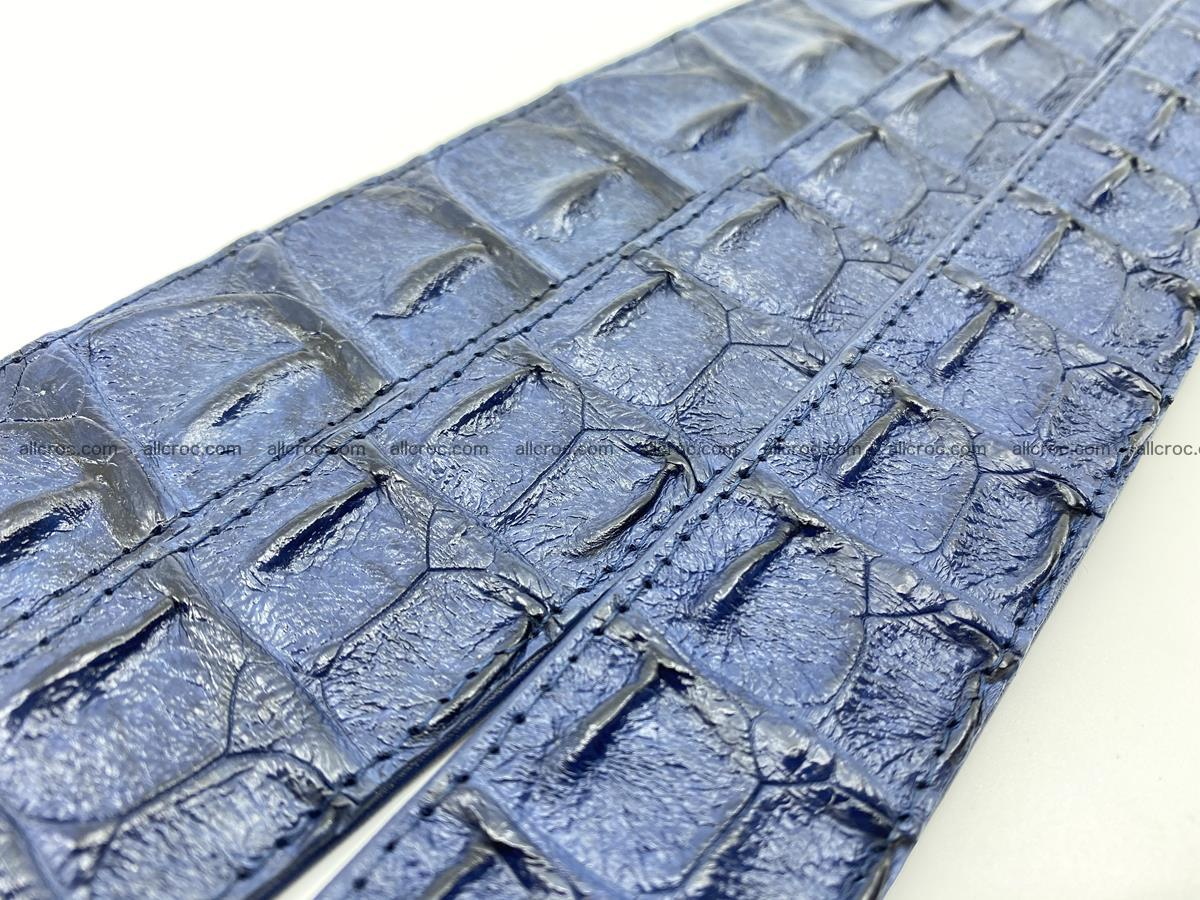 Handcrafted Crocodile leather hornback belt 744 Foto 9