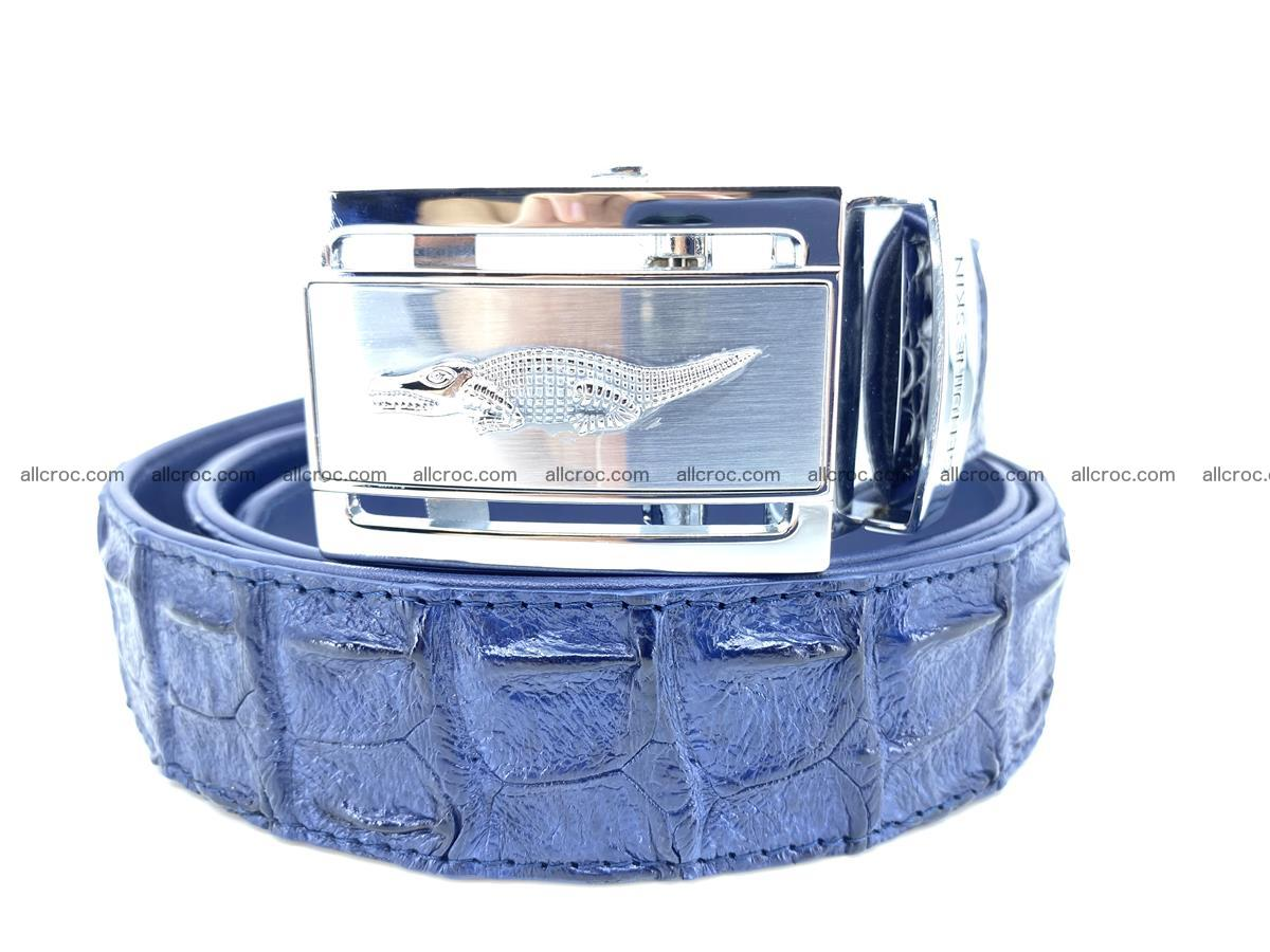 Handcrafted Crocodile leather hornback belt 744 Foto 1
