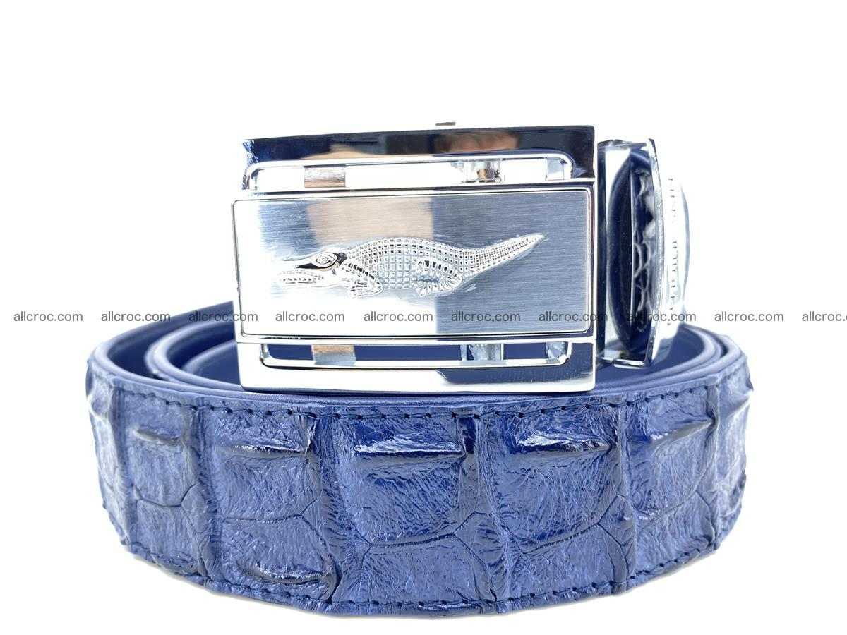 Handcrafted Crocodile leather hornback belt 744 Foto 0