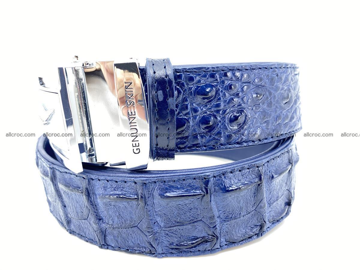Handcrafted Crocodile leather hornback belt 744 Foto 2