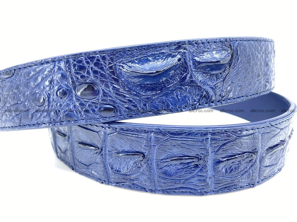 Handcrafted Crocodile leather hornback belt 744 Foto 3