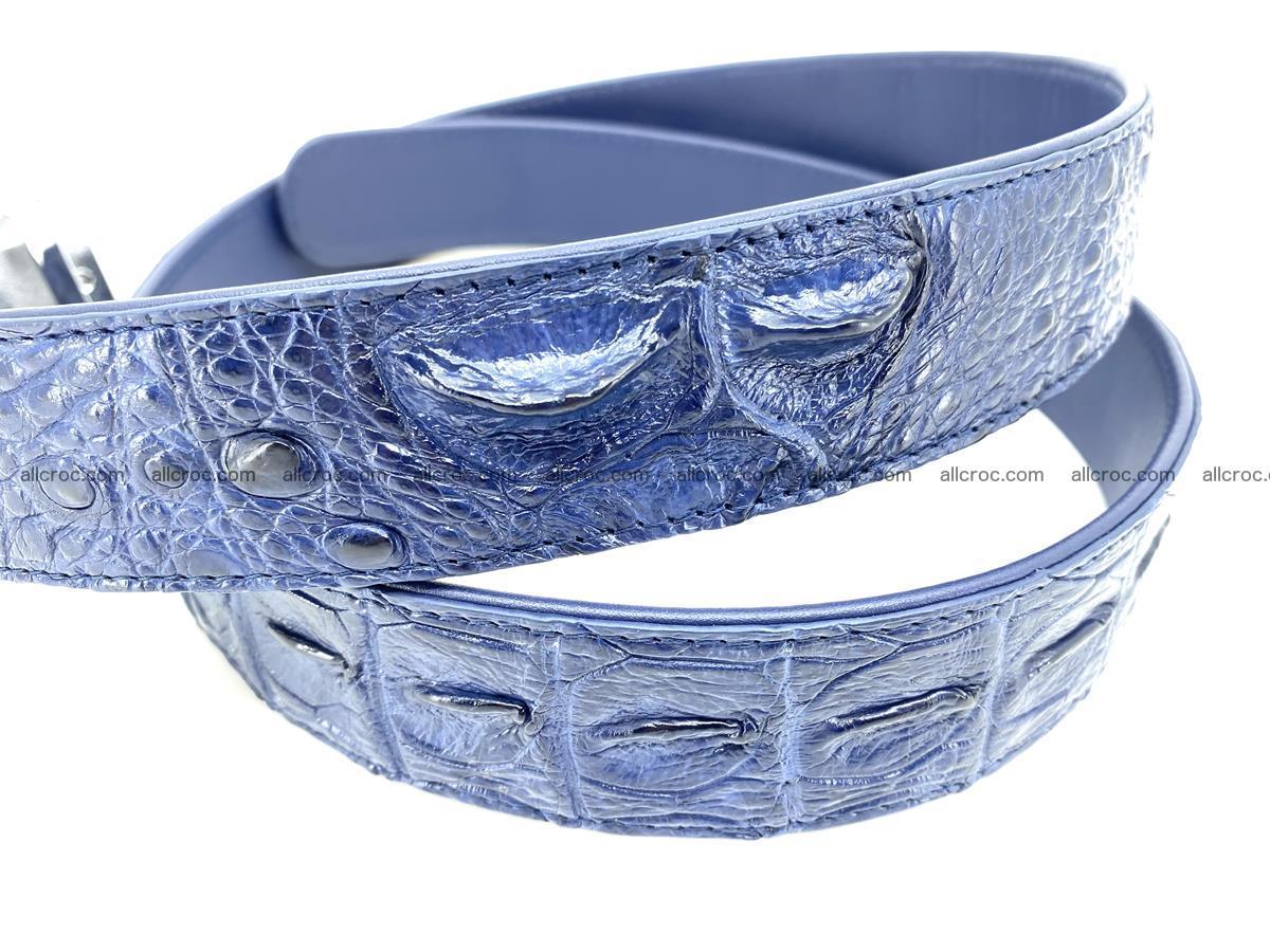 Handcrafted Crocodile leather hornback belt 744 Foto 5