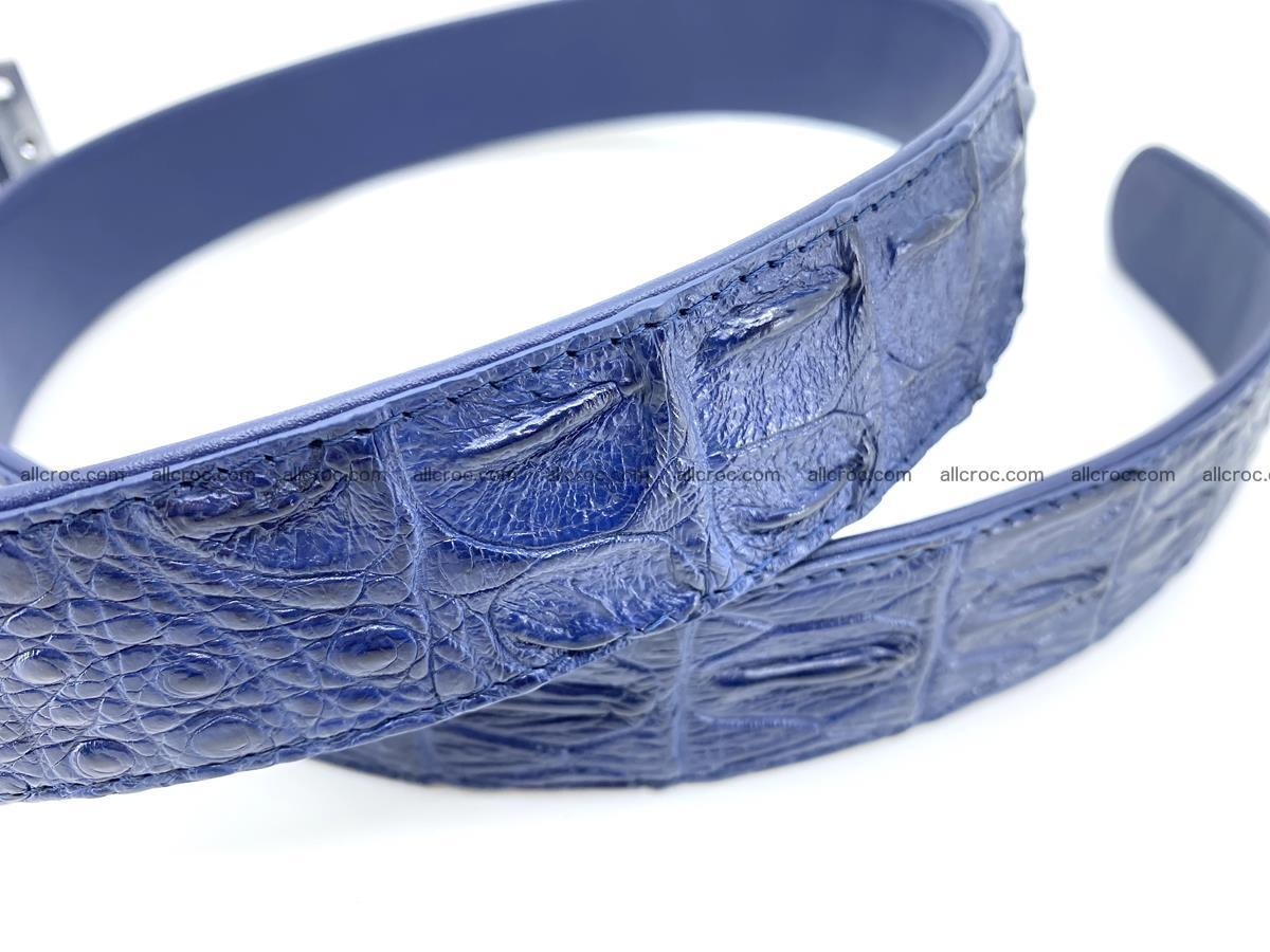 Handcrafted Crocodile leather hornback belt 744 Foto 4