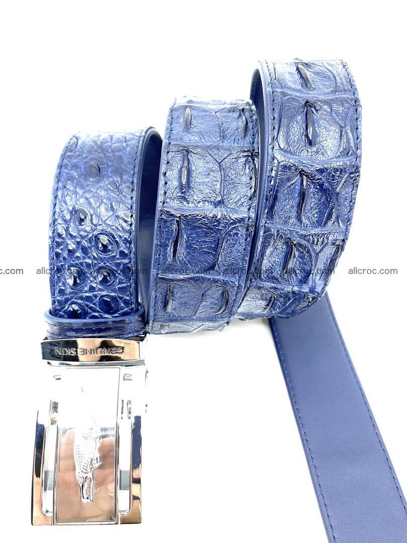 Handcrafted Crocodile leather hornback belt 744 Foto 6