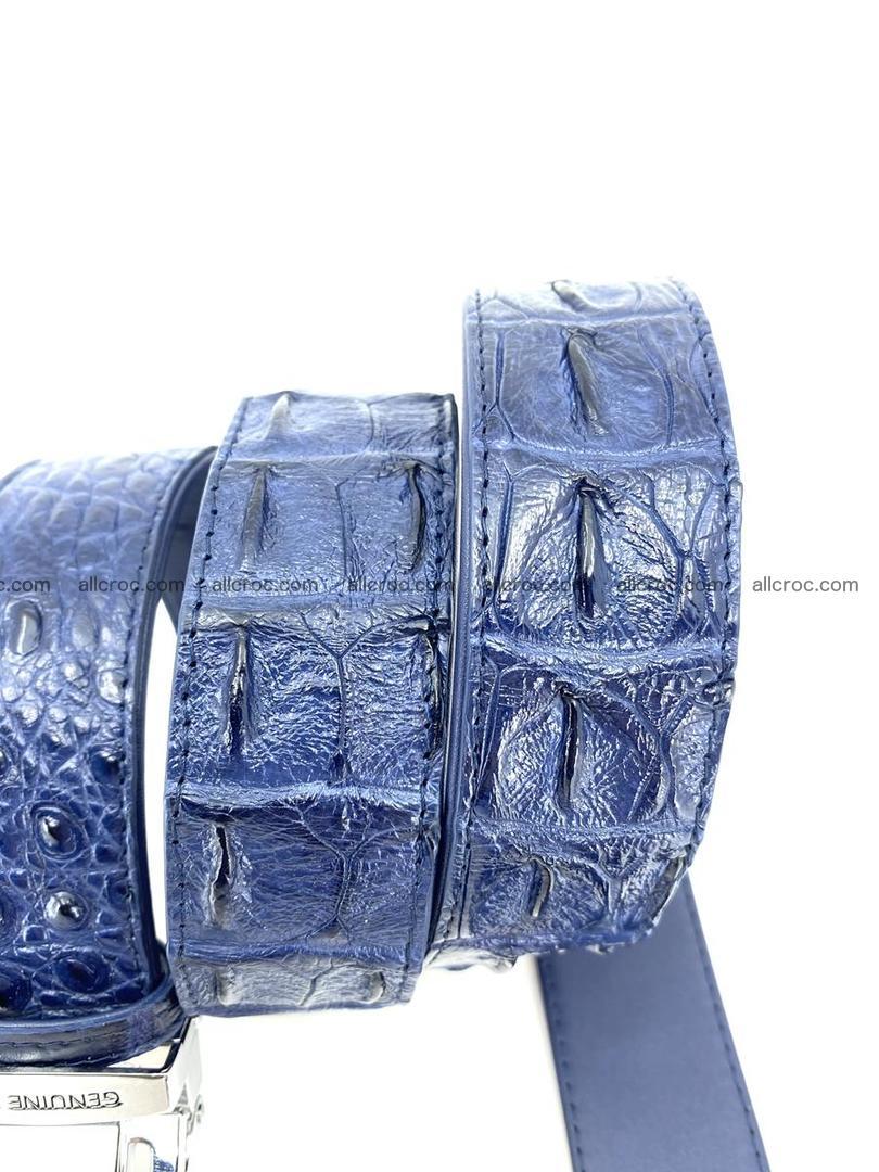 Handcrafted Crocodile leather hornback belt 744 Foto 7