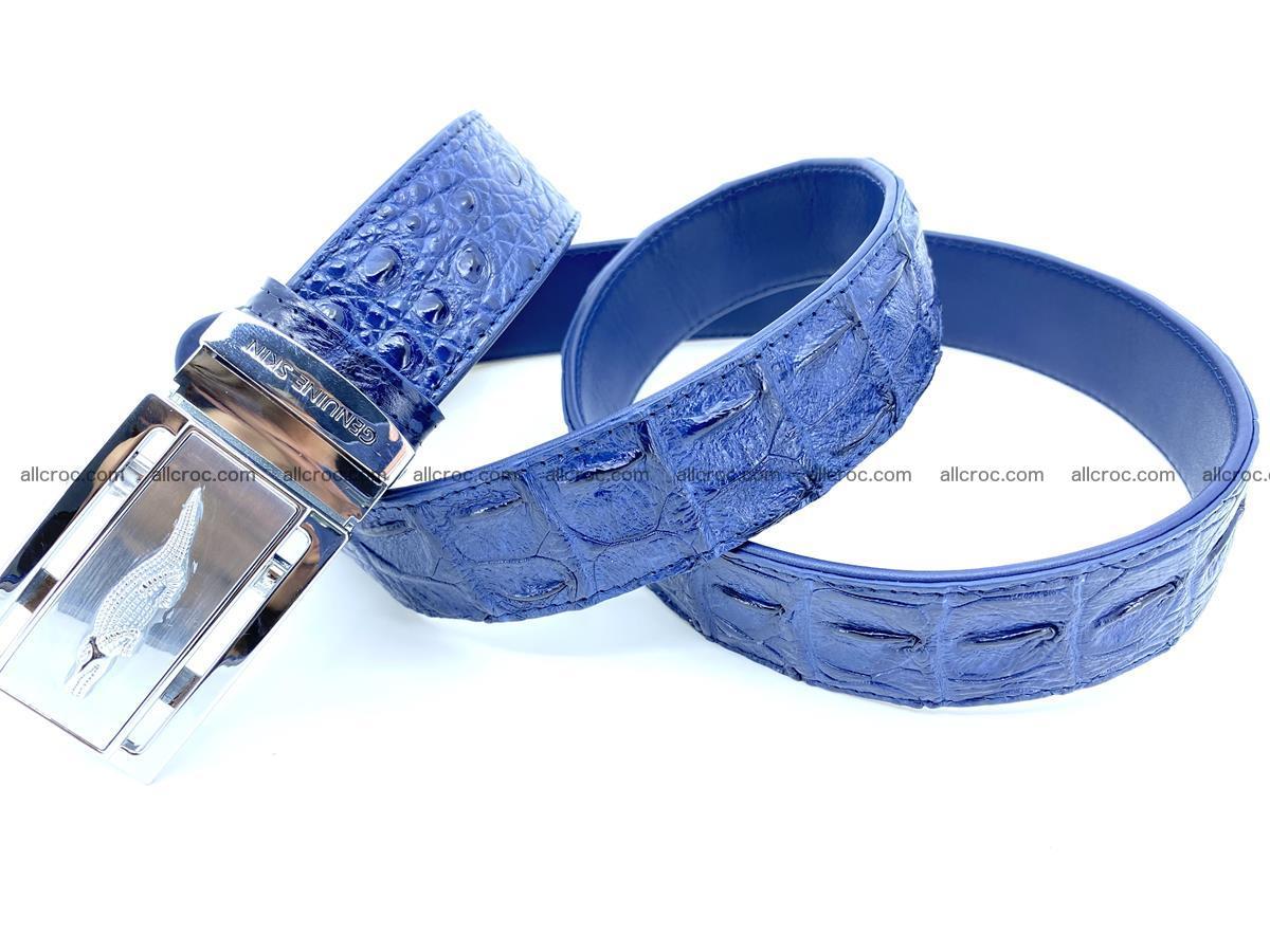 Handcrafted Crocodile leather hornback belt 744 Foto 8