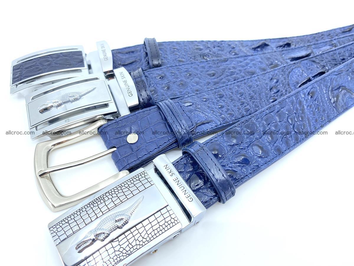 Handcrafted Crocodile leather hornback belt 744 Foto 12