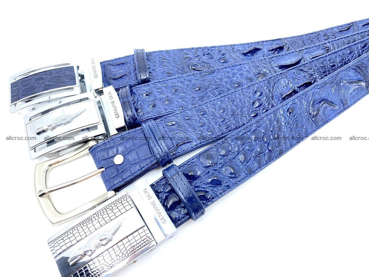 Handcrafted Crocodile leather hornback belt 744 Foto 13