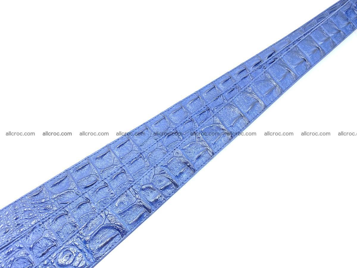Handcrafted Crocodile leather hornback belt 744 Foto 14