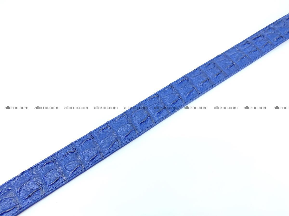 Handcrafted Crocodile leather hornback belt 819 Foto 12