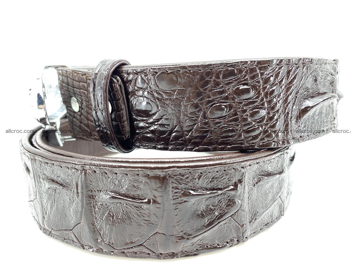 Handcrafted Crocodile leather hornback belt 766 Foto 2