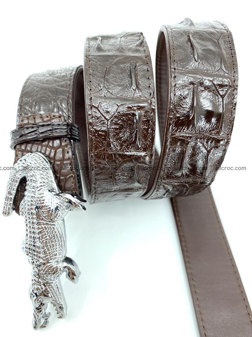 Handcrafted Crocodile leather hornback belt 766 Foto 4
