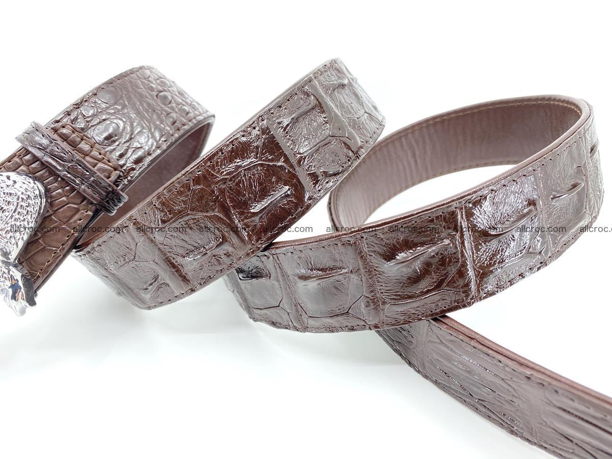 Handcrafted Crocodile leather hornback belt 766 Foto 7
