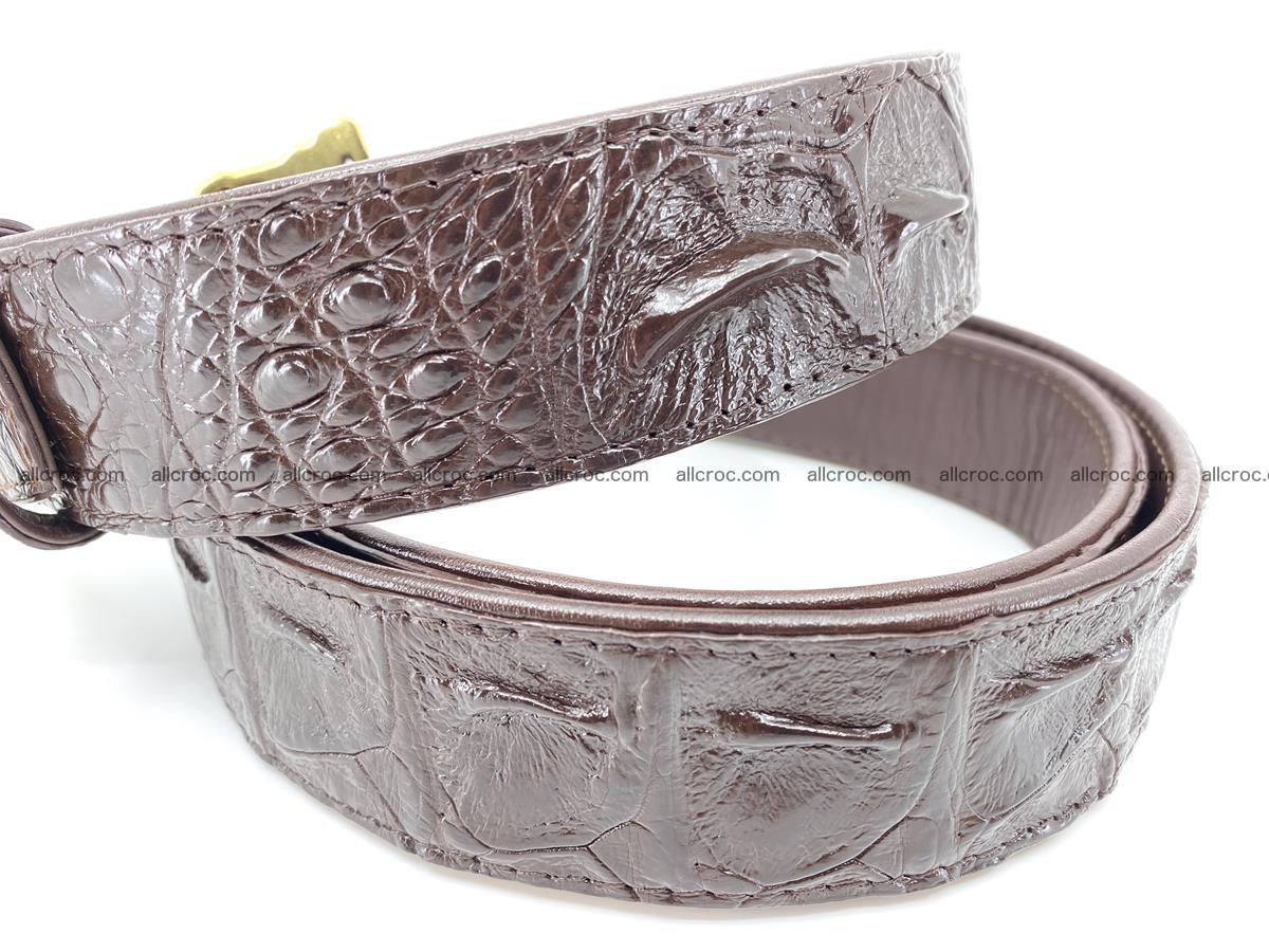 Handcrafted Crocodile leather hornback belt 761 Foto 4