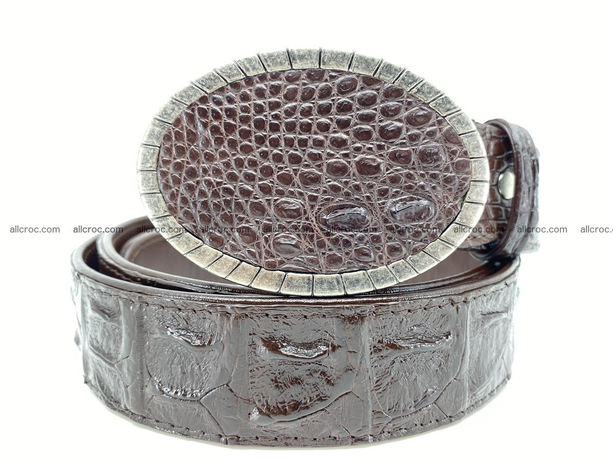 Handcrafted Crocodile leather hornback belt 773 Foto 0