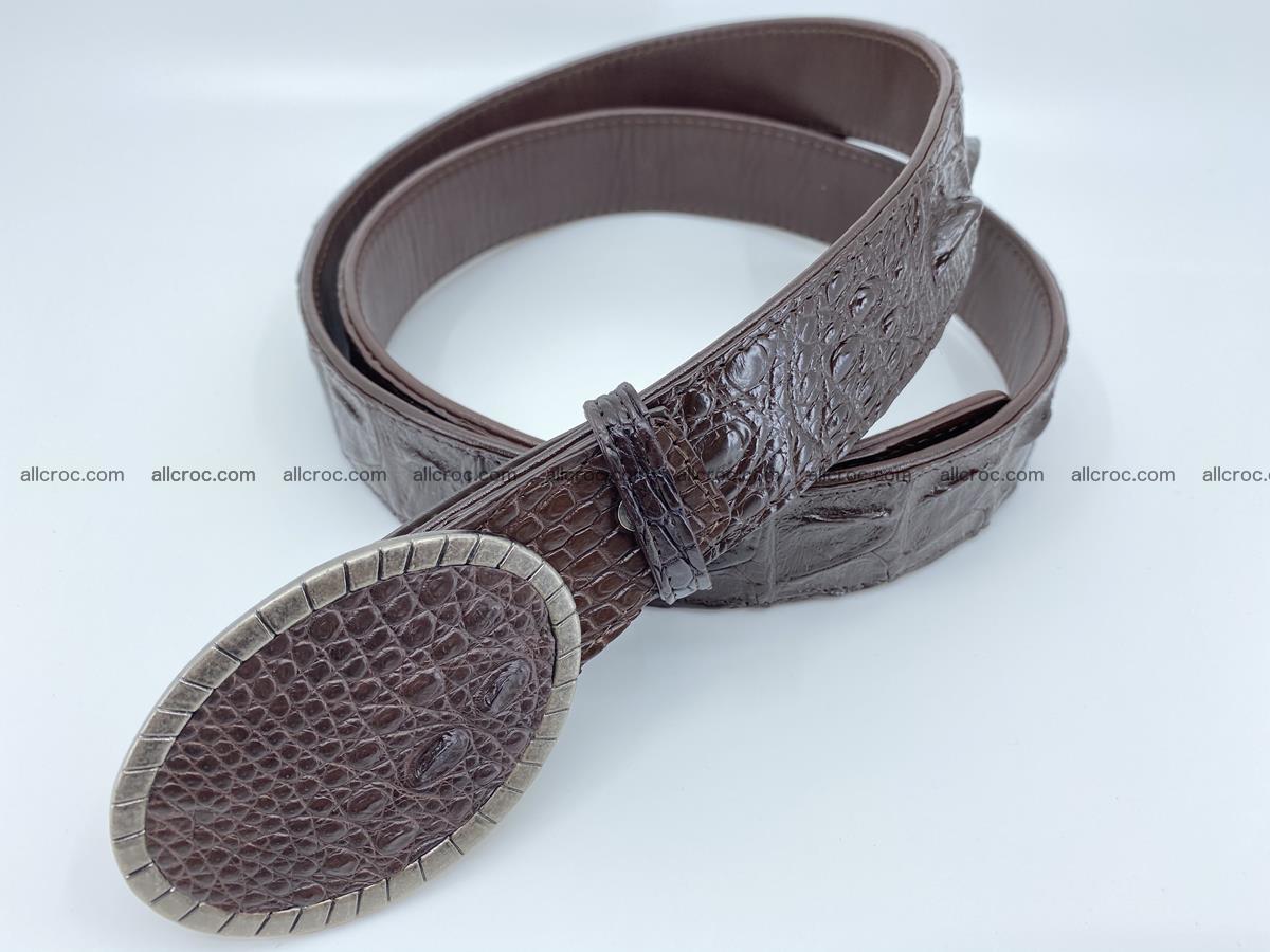 Handcrafted Crocodile leather hornback belt 773 Foto 1