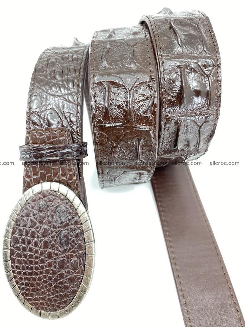 Handcrafted Crocodile leather hornback belt 773 Foto 2