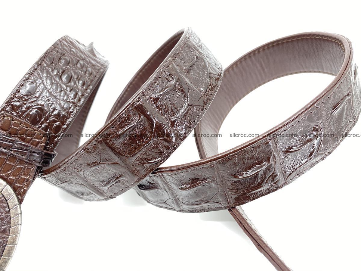 Handcrafted Crocodile leather hornback belt 773 Foto 4