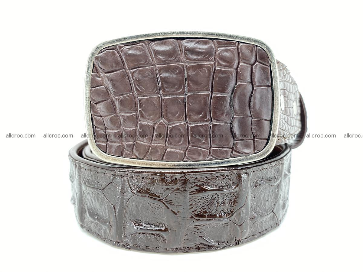 Handcrafted Crocodile leather hornback belt 784 Foto 0