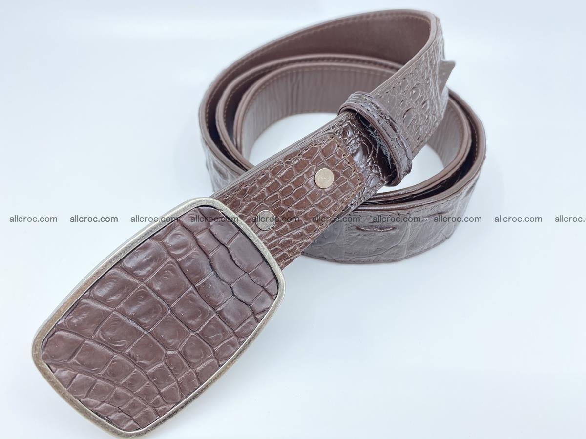 Handcrafted Crocodile leather hornback belt 784 Foto 1