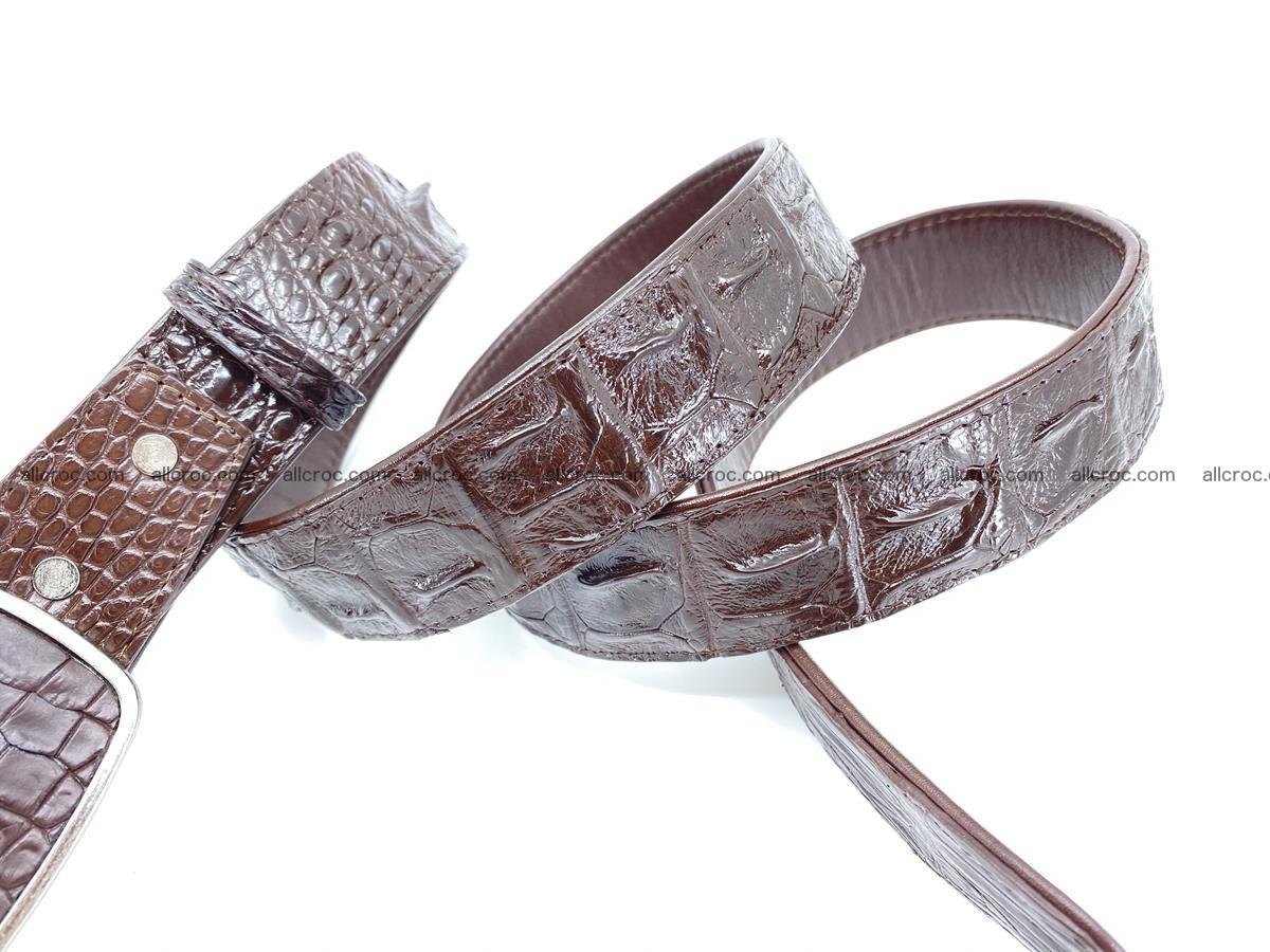Handcrafted Crocodile leather hornback belt 784 Foto 4