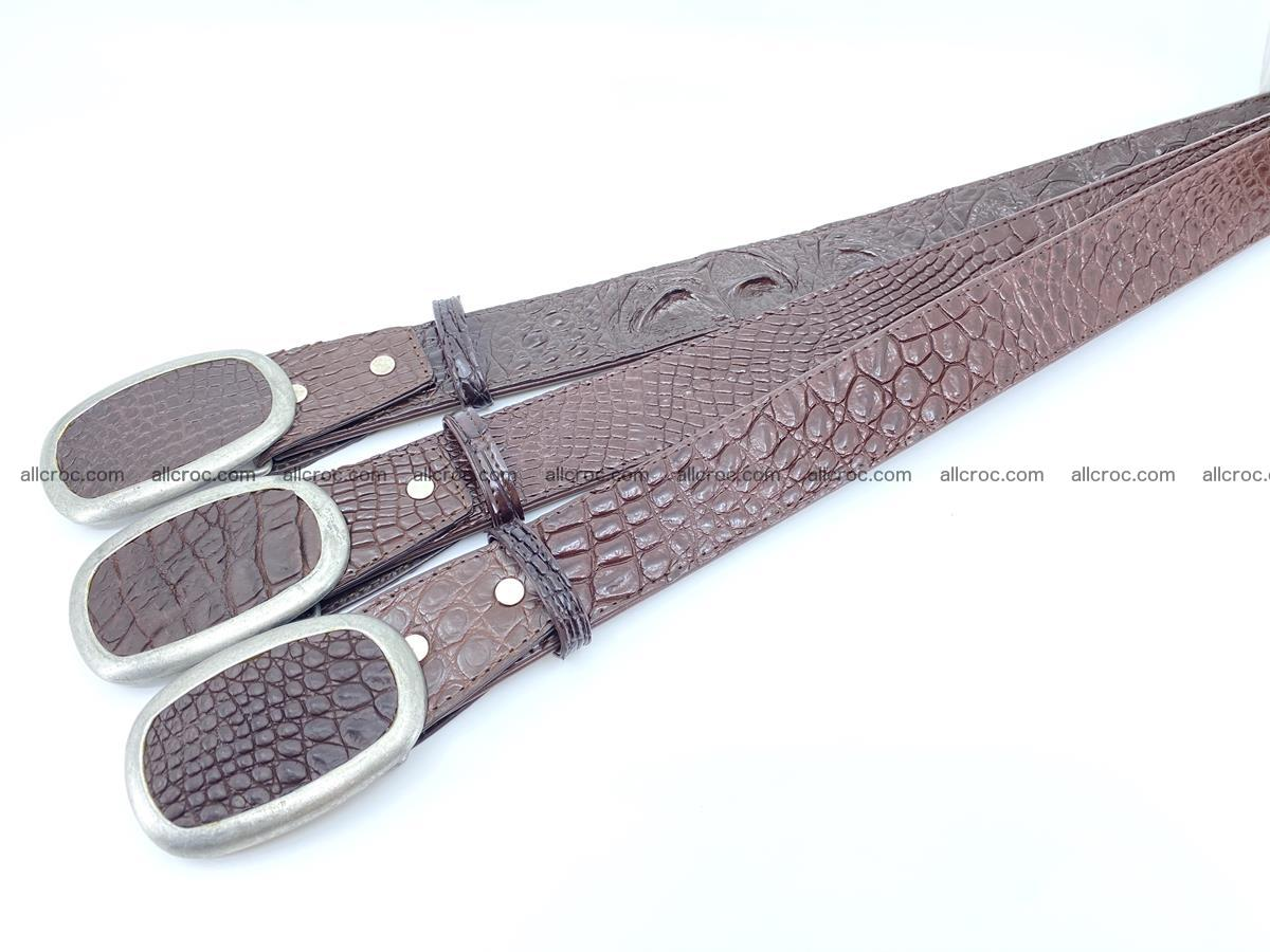 Handcrafted Crocodile leather hornback belt 796 Foto 8