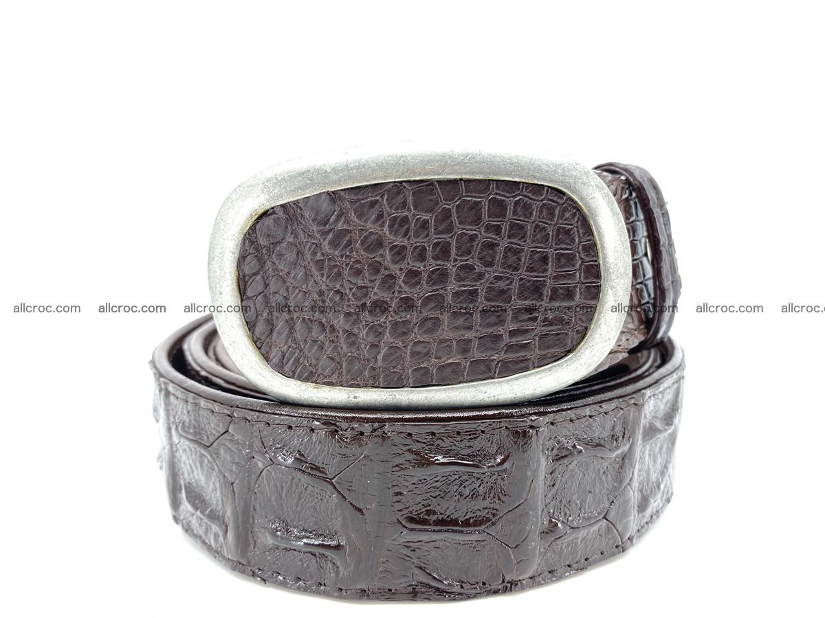 Handcrafted Crocodile leather hornback belt 796 Foto 11
