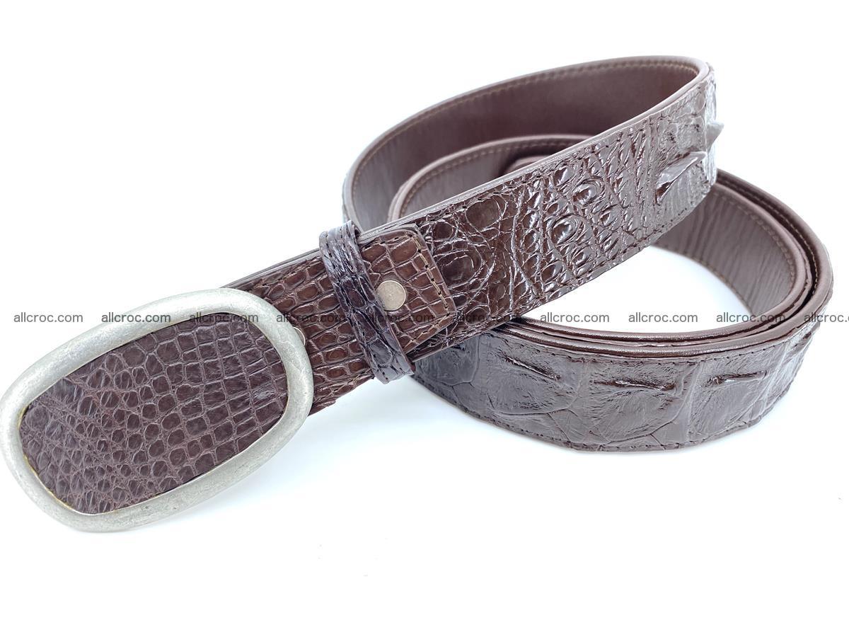 Handcrafted Crocodile leather hornback belt 796 Foto 1