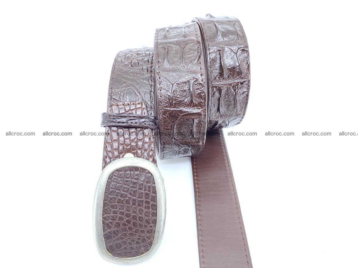 Handcrafted Crocodile leather hornback belt 796 Foto 2