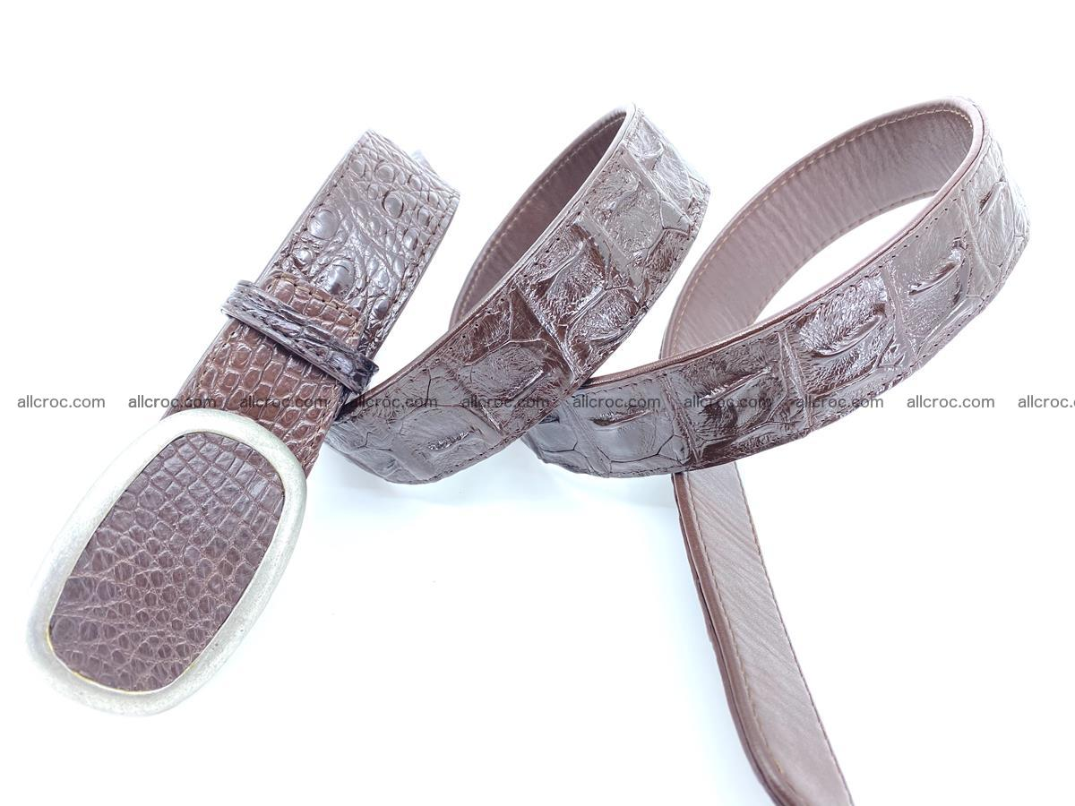 Handcrafted Crocodile leather hornback belt 796 Foto 3