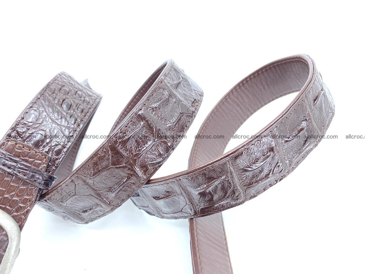 Handcrafted Crocodile leather hornback belt 796 Foto 4