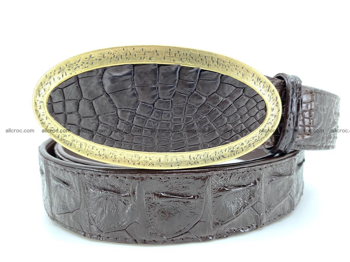 Handcrafted Crocodile leather hornback belt 802 Foto 10
