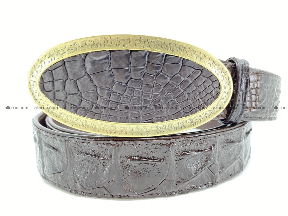 Handcrafted Crocodile leather hornback belt 802 Foto 0