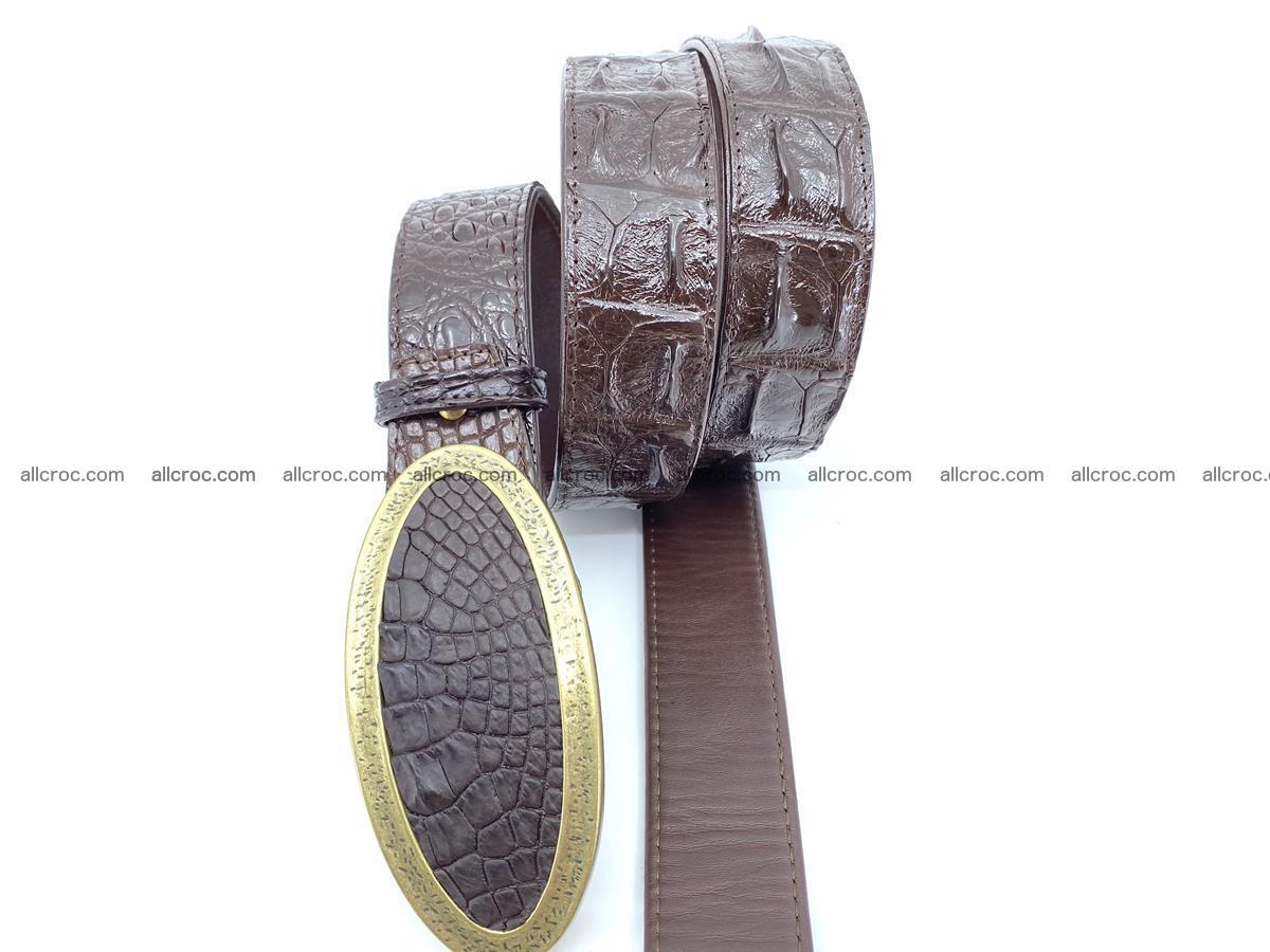 Handcrafted Crocodile leather hornback belt 802 Foto 2