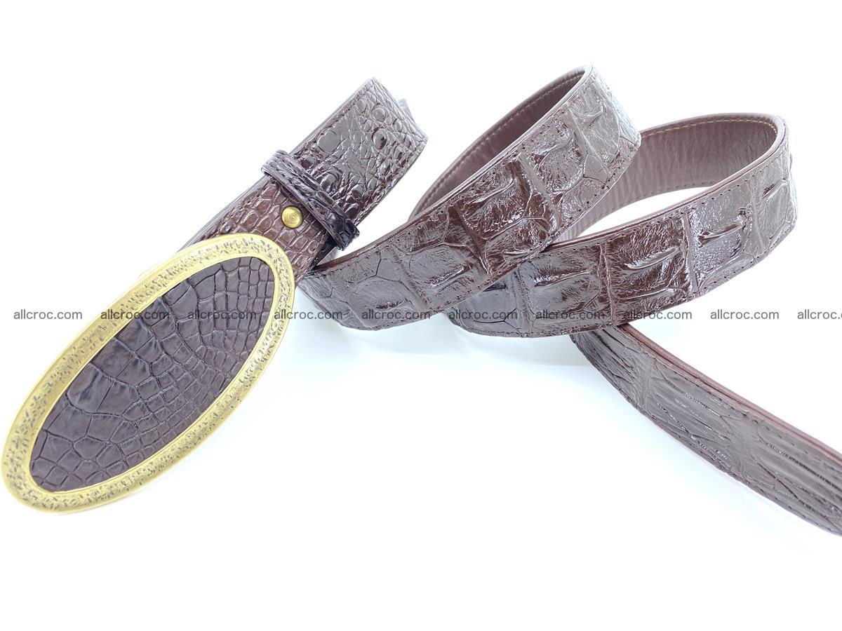Handcrafted Crocodile leather hornback belt 802 Foto 3