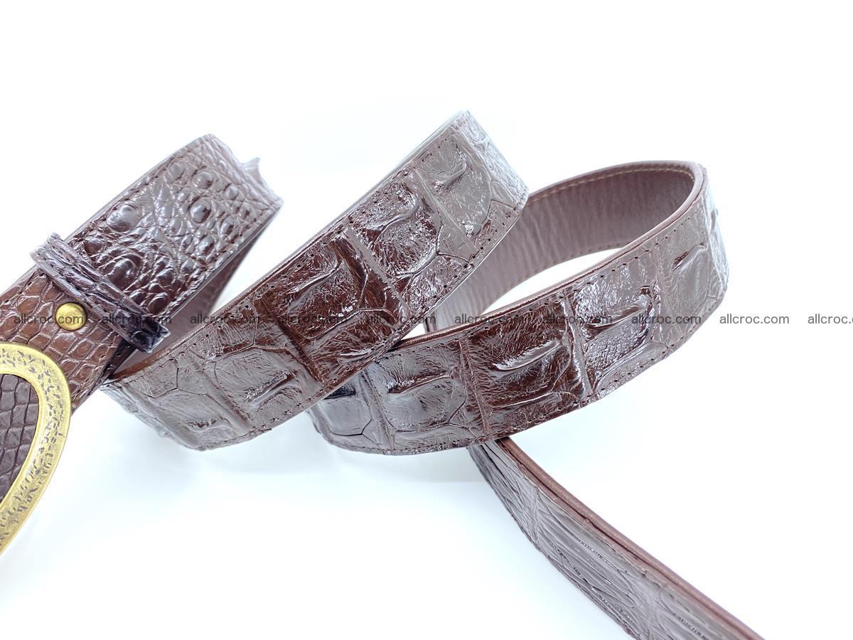 Handcrafted Crocodile leather hornback belt 802 Foto 4