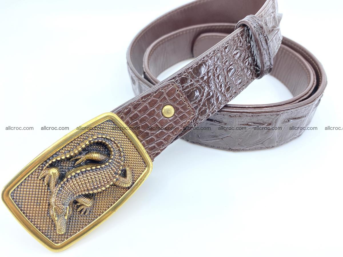 Handcrafted Crocodile leather hornback belt 810 Foto 1